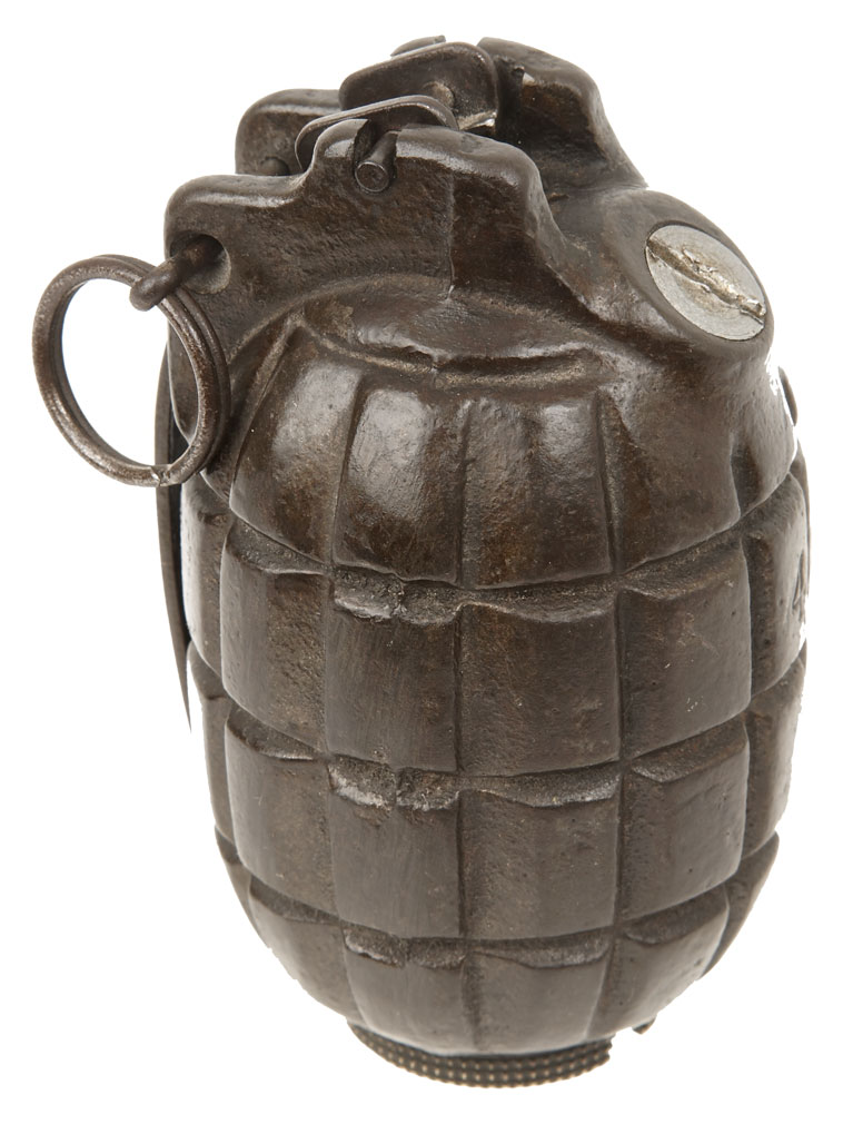Deactivated Mills Bomb Grenades In World War 1