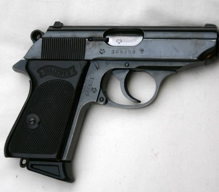 Walther PPK with screw in silencer