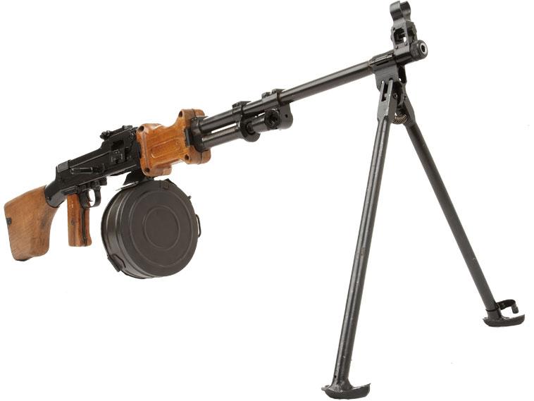Deactivated RPD light machine gun