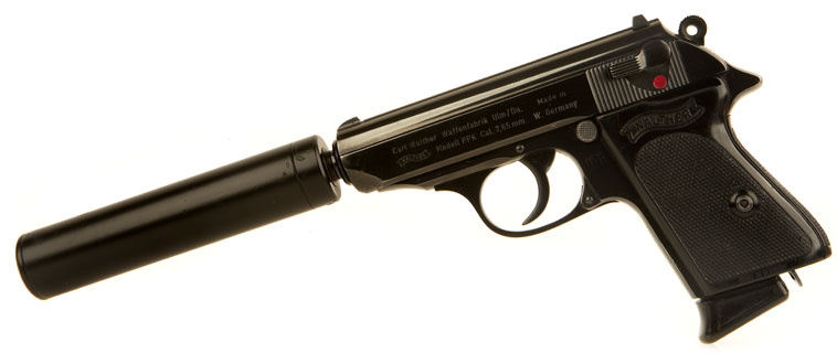 Deactivated Walther PPK and Silencer