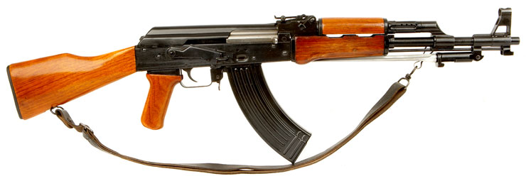 Deactivated AK47 Assault Rifle With Folding Bayonet Type