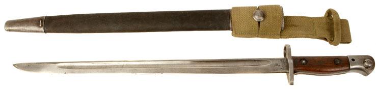 WW1 British 1907 Pattern SMLE Bayonet & Scabbard - Militaria