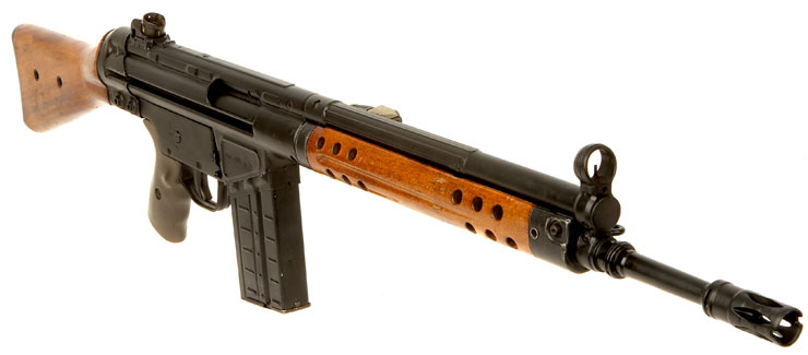 Deactivated Heckler amp Koch G3 Battle Rifle With Early Wood