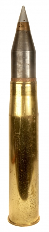 Inert British 105mm Smoke shell.
