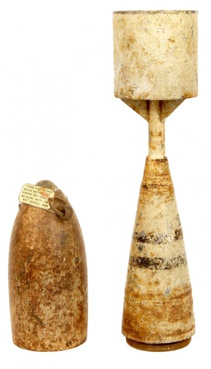 Inert 10LB WWII RAF Practice Bomb - Militaria