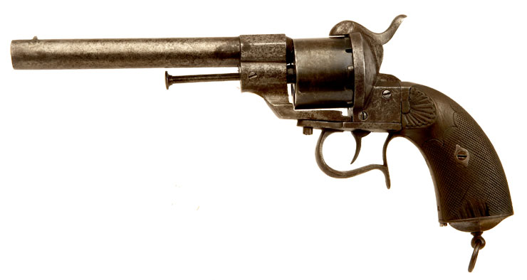 An Extremely Rare Norwegian Navy M1850 Lafaucheux pinfire revolver.