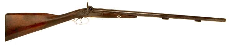 Joseph Bourne Double Barrel Percussion Shotgun