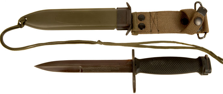 M16 US M7 Bayonet & Scabbard by Solingen, West Germany