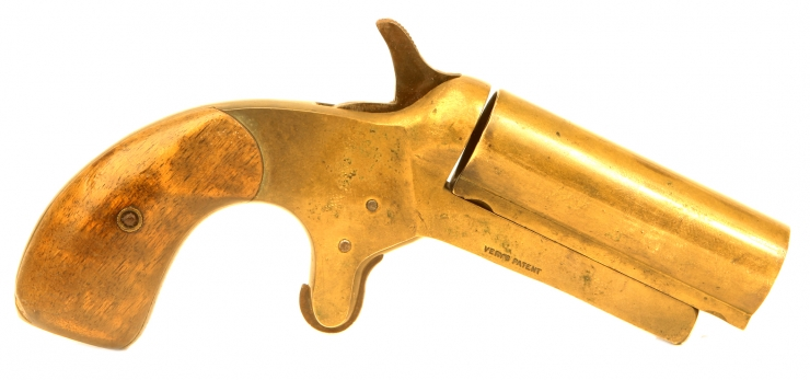 Extremely Rare Dyer & Robson model 1882 brass Very pistol with holster