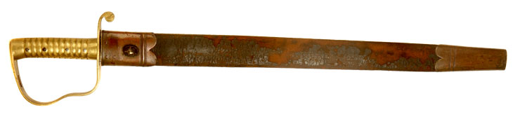 1856 Pattern Pioneer Saw Back short sword & scabbard issued to the Coldstream Guards