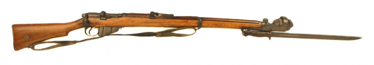 Just Arrived, Deactivated WWI & WWII SMLE fitted with Grenade Launcher, Mills Grenade & Bayonet