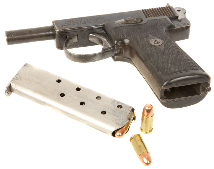 Deactivated Webley & Scott  32 Automatic Pistol - Allied