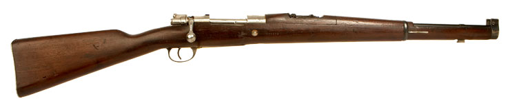 Deactivated Argentine manufactured Mauser Model 1909 military cavalry carbine
