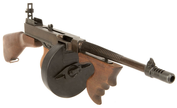 thompson machine gun replica