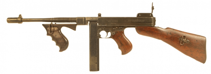 Deactivated WWII US Thompson M1928A1 Submachine Gun
