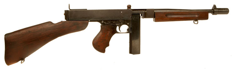 Just Arrived, Deactivated WWII US Thompson 1928A1 Smooth Barrel Variant