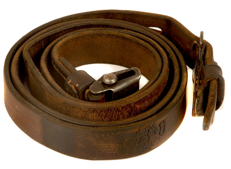 An original WWII German K98 leather sling