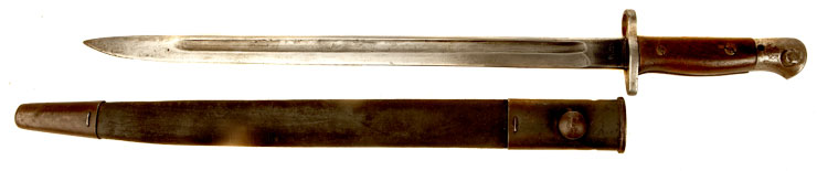 Early WWI, 1907 PATTERN SMLE BAYONET & SCABBARD