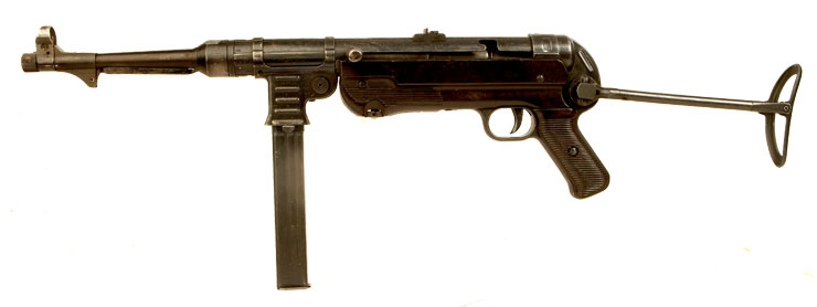 Deactivated RARE Early Production MP40 Submachine Gun