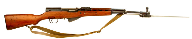 Deactivated SKS Semi Automatic Rifle