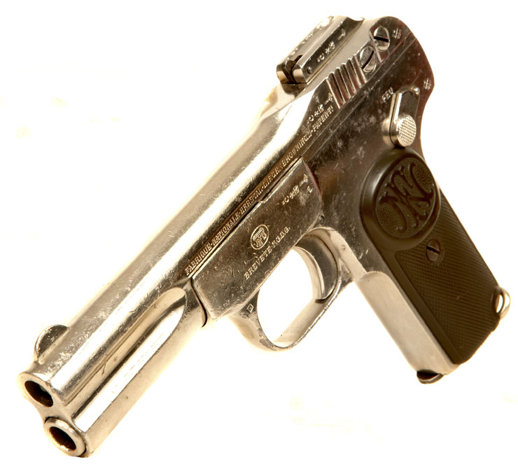 Deactivated RARE Nickel Plated Browning FN Model 1900
