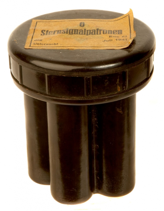 WWII Nazi Flare Pistol Cartridge Bakelite Storage Container