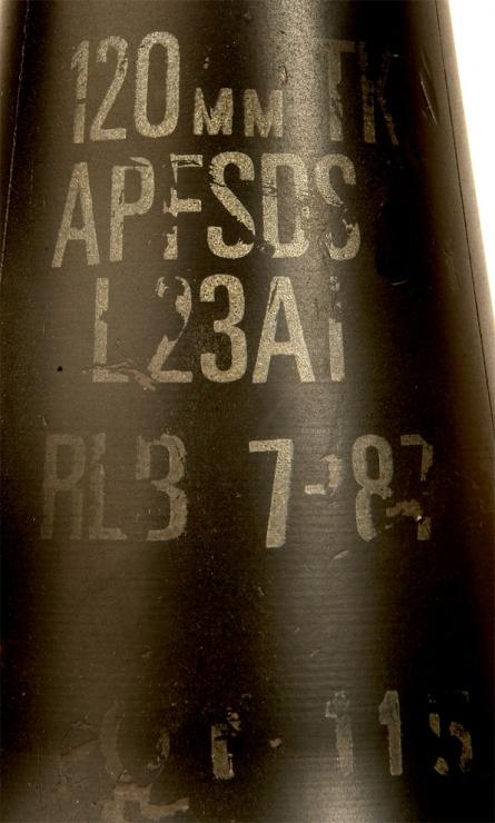 Inert British Army L23A1 APFSDS - Militaria