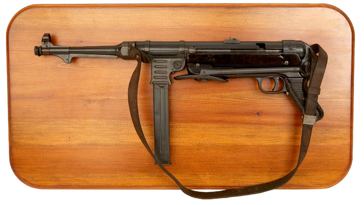 Bespoke MP40 Sub Machine Gun wooden wall mount display plaque