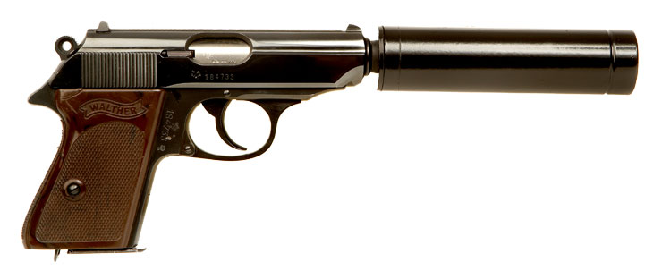 Mint Condition Deactivated Walther PPK With Silencer ...
