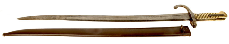 Model 1866 Chassepot Rifle Sword Bayonet & Scabbard Marked to the Irish Yeomanry