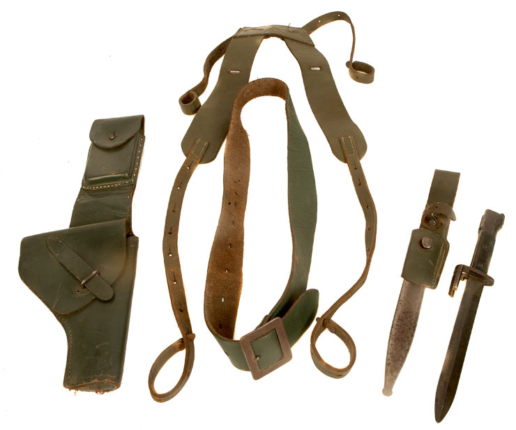 Falklands War Argentinian Webbing set with holster & Bayonet, Scabbard & Frog