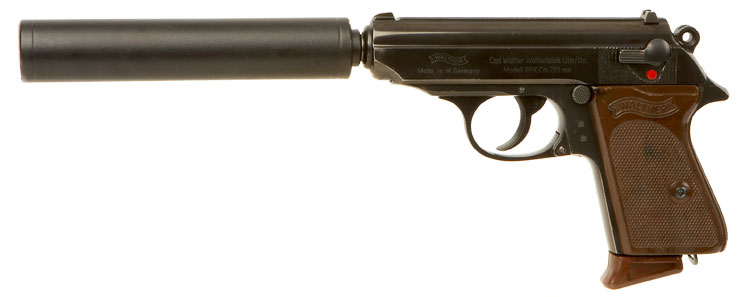 Deactivated Walther PPK with Silencer - Modern Deactivated ...
