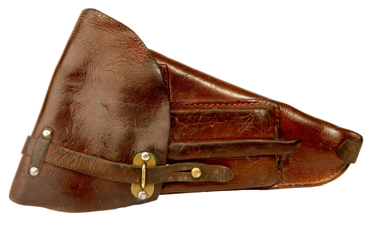 WWII era Finnish Lahti Pistol L-35 Leather Holster.