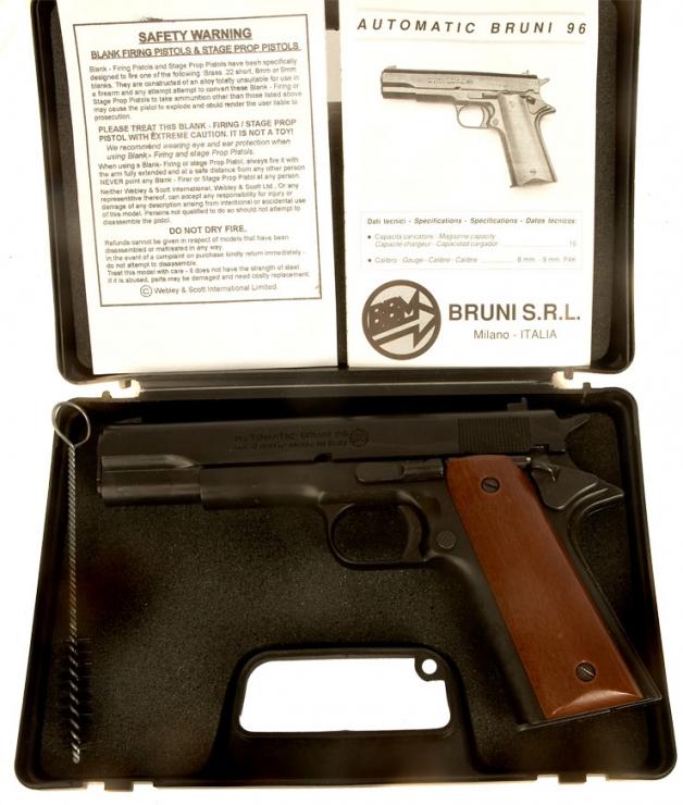 Bruni Colt 1911A1 blank firing pistol  - Modern Deactivated Guns