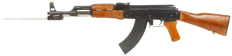 Deactivated AK47 Assault Rifle With Folding Bayonet