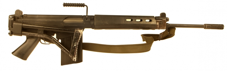 Deactivated Rare Argentine FN FAL Airborne Model with folding stock