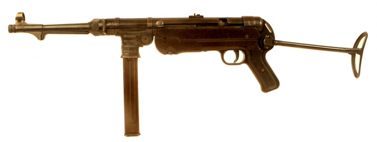 Deactivated WWII German MP40