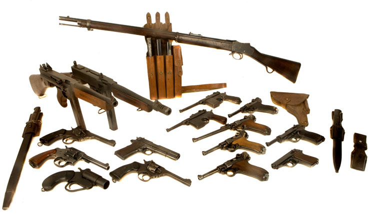 Just Arrived, A superb Deactivated Collection of WWI & WWII Firearms