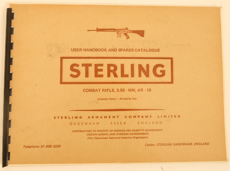Sterling Armament Company Ltd user handbook for the AR-18 Combat rifle
