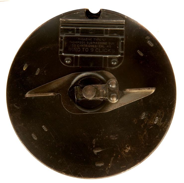 WWII US Thompson Machine gun 50 round drum magazine ...