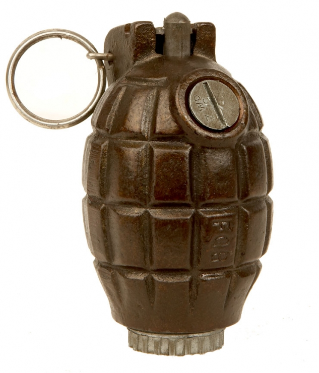 Inert WWII British No36m MKI Mills Grenade