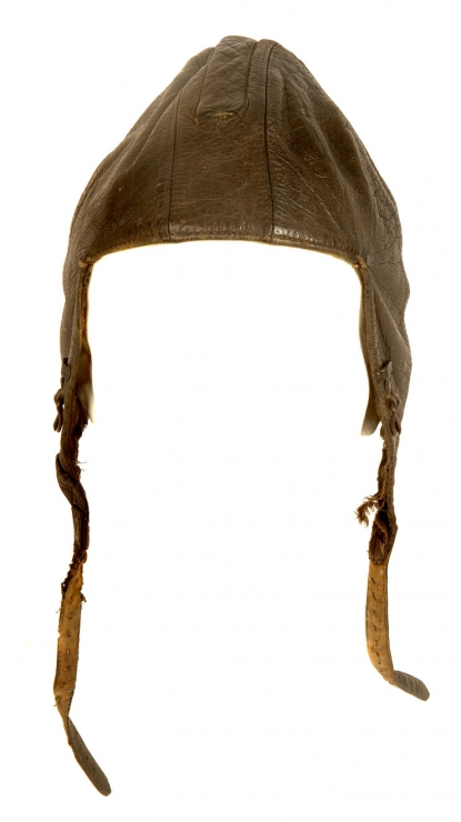 WWII Era German Luftwaffe Leather Flying Helmet