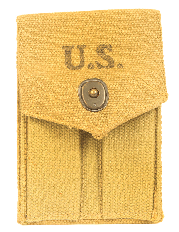 Genuine Second World War US army Colt 1911 spare magazine pouches.