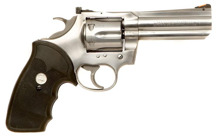 Deactivated colt king cobra 357 magnum revolver