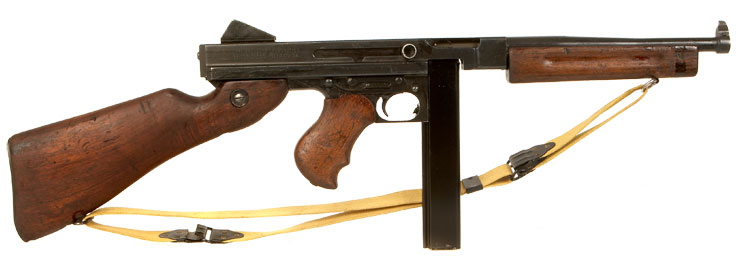 Deactivated WWII Auto Ordnance Thompson M1 Submachine Gun