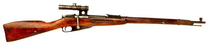 Just Arrived, Deactivated WWII Russian Mosin Nagant M/91 rifle fitted with PU scope and mounts