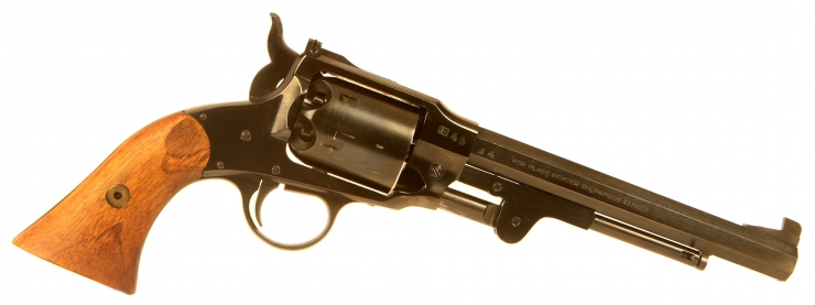 Deactivated Rogers & Spencer .44 percussion revolver.