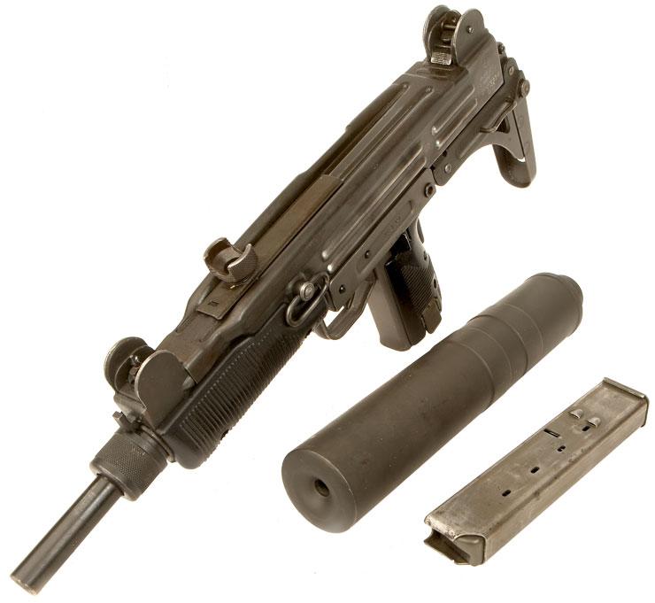 Deactivated Isreali UZI Submachine Gun With Silencer