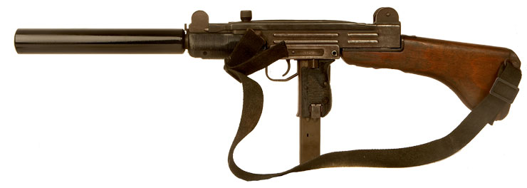 Deactivated Israeli UZI with Dummy Silencer