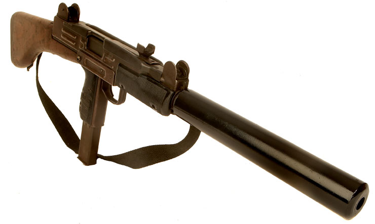 Deactivated Israeli UZI with Dummy Silencer - Modern Deactivated